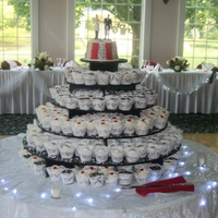 Wedding Cupcakes 350 cupcakes. They were German Chocolate with coconut pecan icing,Carrot cake with creamcheese icing and, Vanilla with buttercream. The...