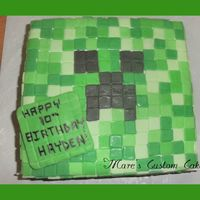 Mindcraft Cake   bc covered in fondant squares...lots and lots of squares :)