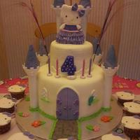 Hello Kitty Castle Cake & Cupcakes *