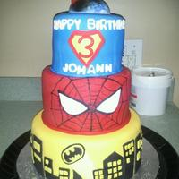 Superhero Cake 2 Spiderman Batman Superman Superhero cake 2, Spiderman, Batman, Superman