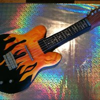 Flame Electric Guitar Cake *Flame Electric guitar cake