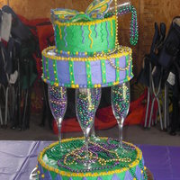 Mardi Gras Birthday Cake My girlfriends daughter had a Mardi Gras themed Sweet 16 birthday party. I was thrilled when she hugged me and said this looks like it...