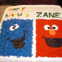 Sesame Street Birthday Cake This was for my nephews 1st birthday. We needed something that would travel long distance well and she wanted no fondant as no one in the...