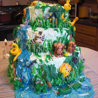Jungle Cake This was my first time working with chocolate clay, but I loved it so much it wasn't my last!There were white and chocolate layers...