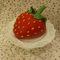 So Strawberry! I made this for my daughter's 5th birthday. She loves strawberries so much I thought I'd make her a really big one! The cake is...