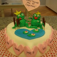 Charming Pair I made this for a valentine's day party at my daughter's school. It was her idea to put the cute worm wrapped in the frog's...