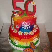 Tie Dyed 50Th Birthday