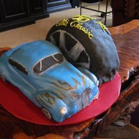 1937 Ford Coupe Chocolate cake with MMF. My first attempt at a 3D cake. I'm pleased with the overall shape. As always, learned a few things along the...