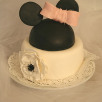 Minnie Mouse Cake Thanks to several Cake Central Cake Bakers I was able to accomplish this cake. This is my first all fondant cake. I used the satin ice...