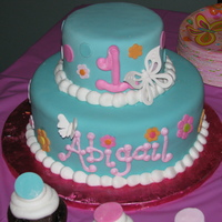 Abigail's Cake Made for my nieces 1st birthday