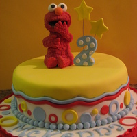Elmo Made for McKenna...inspired by maywest...thank you :) The customer loved it. elmo is made from fondant and covered with red candy melts