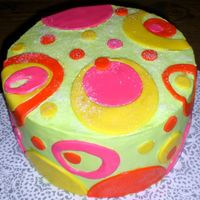 1St Mommy & Me Cake! This is the first time my 11 year old daughter has helped me with a cake. She designed it, picked everything from the colors to placement...