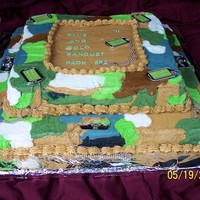 Camo Cake We had a camo boy scout dinner. I tried using a rolling paint brush. Didn't come out very smooth. I would of been more happier. Any...