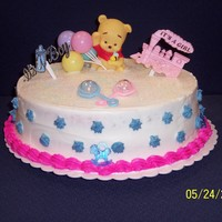 Baby Shower Cake made for a male coworker's baby shower. Something simple but cute.