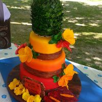 Hawaiian Theme 60Th Birthday Cake For My Mom Pineapple On Top Made Of Rice Krispy Treat And Homemade Fondant Handmade Gumpaste Hibiscus Hawaiian theme 60th Birthday cake for my mom. Pineapple on top made of rice Krispy treat and homemade fondant. Handmade gumpaste hibiscus,...
