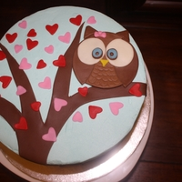 Valentine's Day Owl Birthday Birthday Owl sitting in a tree full of love.