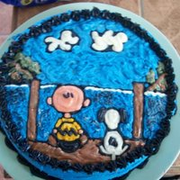 Charlie Brown Made from buttercream icing, and all done freehand.