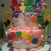 Candyland Cake   all hand-made candy etc.