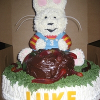 Max From Max And Ruby buttercream with fondant accents