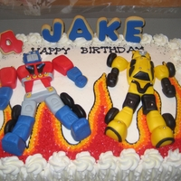 Transformers buttercream with fondant