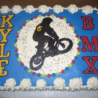 Bmx Birthday buttercream transfer