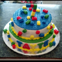 Lego Cake Oh so many dots