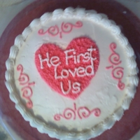 Valentine's Day Cake For Family This was another practice cake, since it was close to Valentine's Day, I took on that theme.