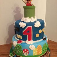 Cake Is Of Buttercream With Fondant Accents Everything Is Edible But The Inside Of Can And Mario Toy Cake is of Buttercream with Fondant accents. Everything is edible but the inside of can and Mario toy.