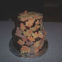 Fall Engagement Party  I made this for an engagement party. Used a few cakes I've seen on CakeCentral as inspiration. Can't remember the creators, but...