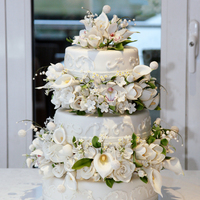 This Was My Sons Wedding Cake It Took Me A Month To Make All The Sugar Flowers It Was An Amazing Cake And All The Effort Was Forth It This was my son`s wedding cake. It took me a month to make all the sugar flowers. It was an amazing cake and all the effort was forth it.