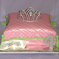 Princess Pillow Cake  For my daughter's 4th birthday. Her theme was Princess & the Pea (Veggietales). I didn't want to go with a character cake, so...