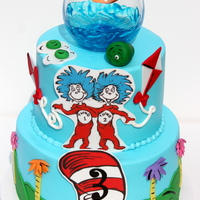 Dr. Seuss Buttercream cakes with fondant detail