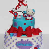 Hello Kitty At The Roller Rink   Buttercream cakes with fondant detail and toppers. TFL!