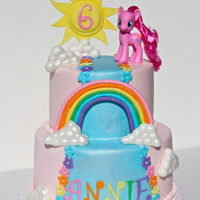 My Little Pony   Buttercream finish with fondant detail. Thanks for looking! Inspired by Faithfully Cakes,