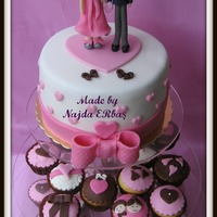 Bridal Shower Cake And Cup Cakes