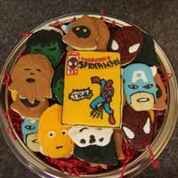 Comic Book Cookies Comic book - Super hero - Star Wars - Spiderman - Hulk - I made these cookies for the guy who runs the local comic book store.