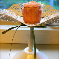 Rose Cupcake Mini vanilla cupcake with white chocolate and rosewater frosting. TFL!