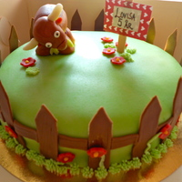 Cow Cake (Sorry about the blurry pic). A cow cake I made for a 5 year old girl. Lemon cake filled with raspberries and vanilla bean, covered with...