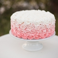 Ombre Rosettes ombre rosette cake fading ivory to dusty rose, another photo shoot that I loved