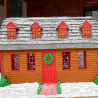 Gingerbread Replica Of The Abigail Adams Birthplace In Weymouth, Ma I did this for my town's annual Gingerbread contest, in conjuction with a historical restoration of the Abigail Adams Birthplace,...