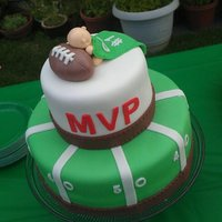 Future Mvp   Future MVP Football Cake for my cousin's wife's baby shower. All MMF decoration.