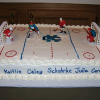Ck Girls Hockey  My bosses daughter plays hockey for CK and they wanted a simple cake for their year end banquet. Each players name (or nickname) was...