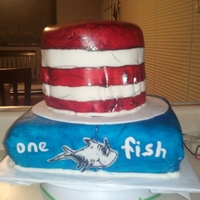 Cat In The Hat Baby Shower Cake