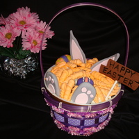 Easter Bunny Basket Inspired by lomfise's bunny cake design. I had a problem with my cake (Mom's Pineapple-Carrot recipe on this site is to die for!...