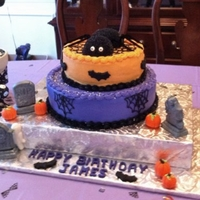 Halloween Birthday Cake This was for my son's 8th birthday party, which was a Halloween theme. It's a buttercream iced cake with fondant accents such as...