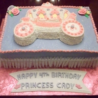 Princess Carriage Cake This is a buttercream cake with MMF accents.