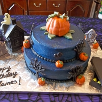 Halloween Birthday Cake I need to give credit to many of the fabulous cakes on here for the inspiration of this cake! This is a buttercream cake with fondant and...