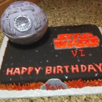 Grandson's 6Th Birthday Cake I made this for my grandson's 6th birthday. He is a BIG Star Wars fan! He was so surprised and loved the cake. I must give credit to...