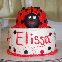 Ladybug Birthday Cake I made this cake for my friend's daughter's first birthday. It is red velvet cake with cream cheese frosting and fondant polka...