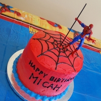 Micha's Spiderman Cake This cake was made for my friend's son's 4th birthday. It is WASC with chocolate whipped cream filling and vanilla buttercream...